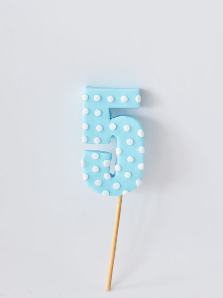 Fondant Big Numbers (Polka Dot)