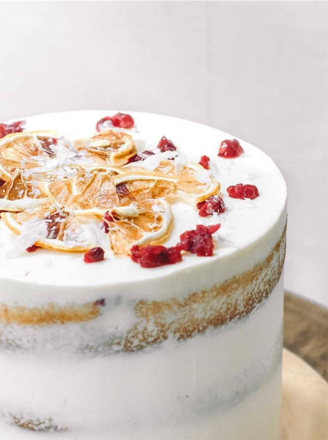 Raspberry Lemon White Chocolate Cake