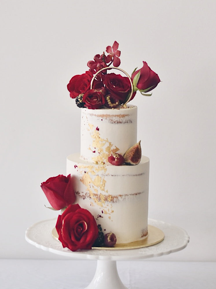 Online Royal Red and Gold Cake |  Cakes. Sweets. Dessert Bars- Zee & Elle