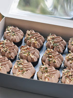 Online Rustic Brown Cupcakes Box of 12 Delivery - Cakes. Sweets. Dessert Bars- Zee & Elle