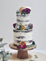 Rustic Red Floral Garden Cake - Cakes. Sweets. Dessert Bars- Zee & Elle
