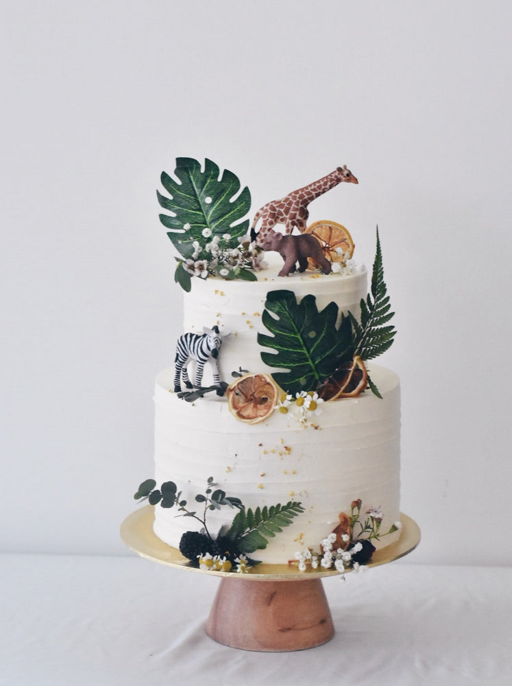 Customised Online Rustic Safari Birthday Cake | Zee & Elle