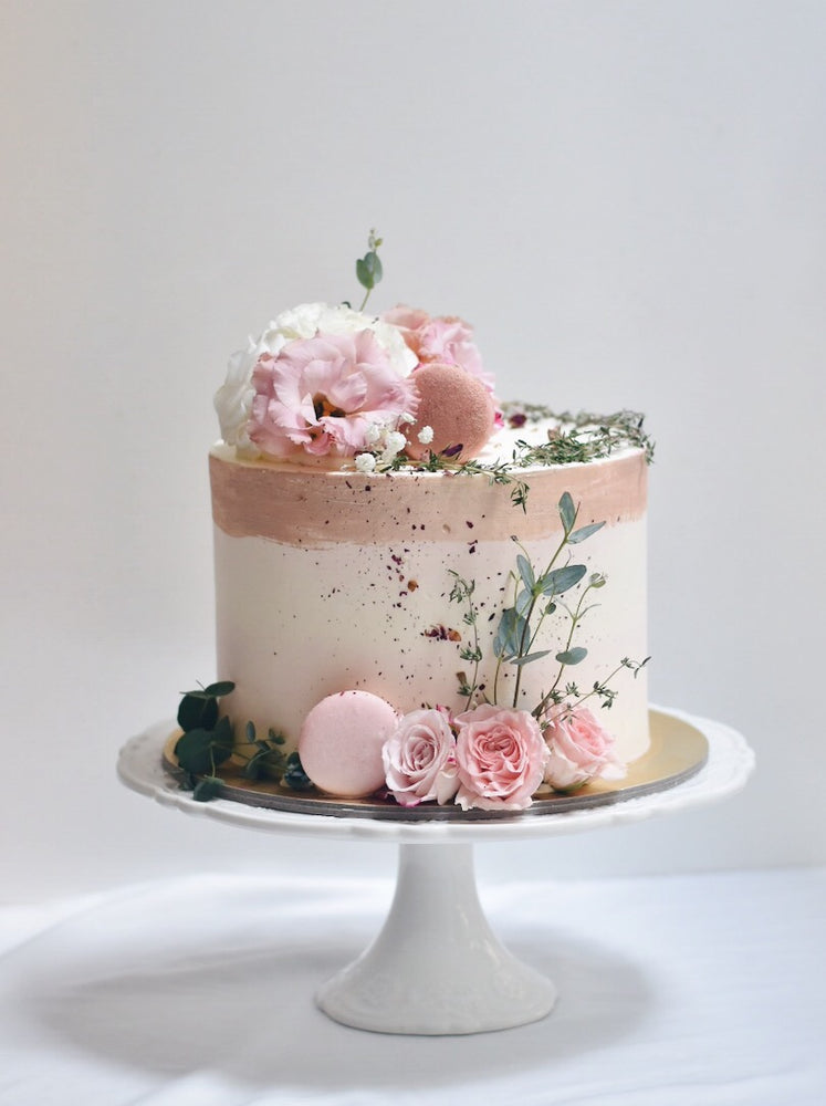 Shades of Pink Floral Cake - Cakes. Sweets. Dessert Bars- Zee & Elle