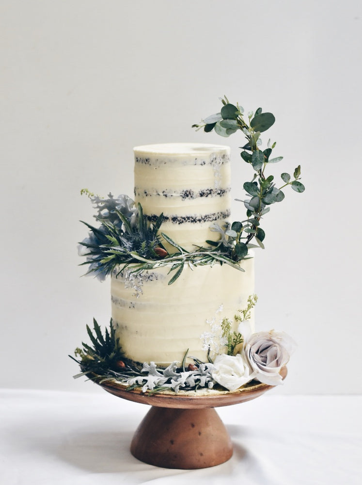 Silver Enchanted Floral Cake