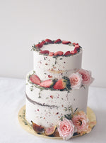 Online Sweet Pink Strawberry Cake |  Cakes. Sweets. Dessert Bars- Zee & Elle