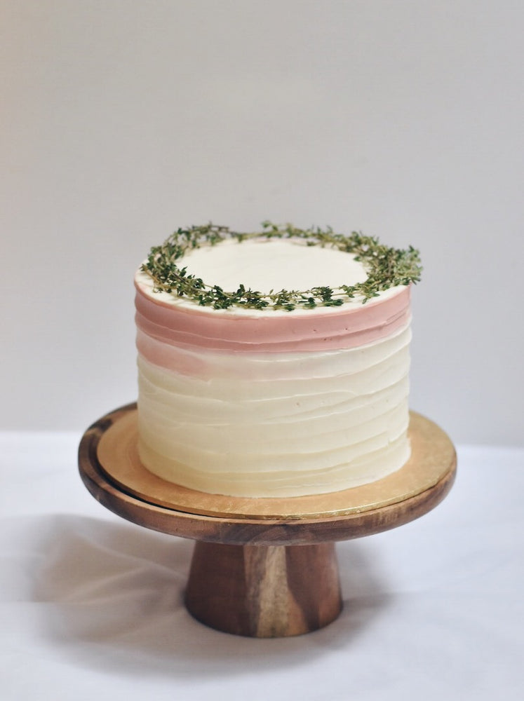 Customised Online Thyme Wreath Swirl White Birthday Cake - Cakes. Sweets. Dessert Bars- Zee & Elle