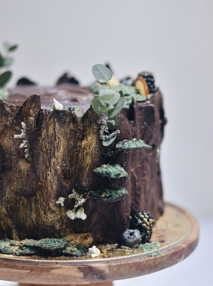 Tree Trunk Wood Cake - Cakes. Sweets. Dessert Bars- Zee & Elle