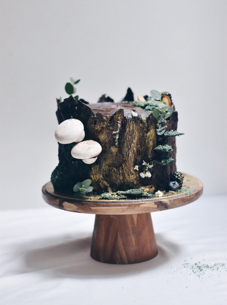 Tree Trunk Wood Birthday Cake Delivery - Cakes. Sweets. Dessert Bars- Zee & Elle