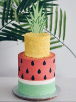 Customised Online Tropical Yellow Pineapple Watermelon Birthday Cake | Cakes. Sweets. Dessert Bars- Zee & Elle
