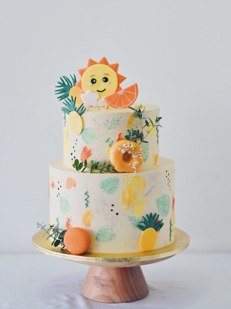 Online Tropical Sunshine Abstract Cake|  Cakes. Sweets. Dessert Bars- Zee & Elle