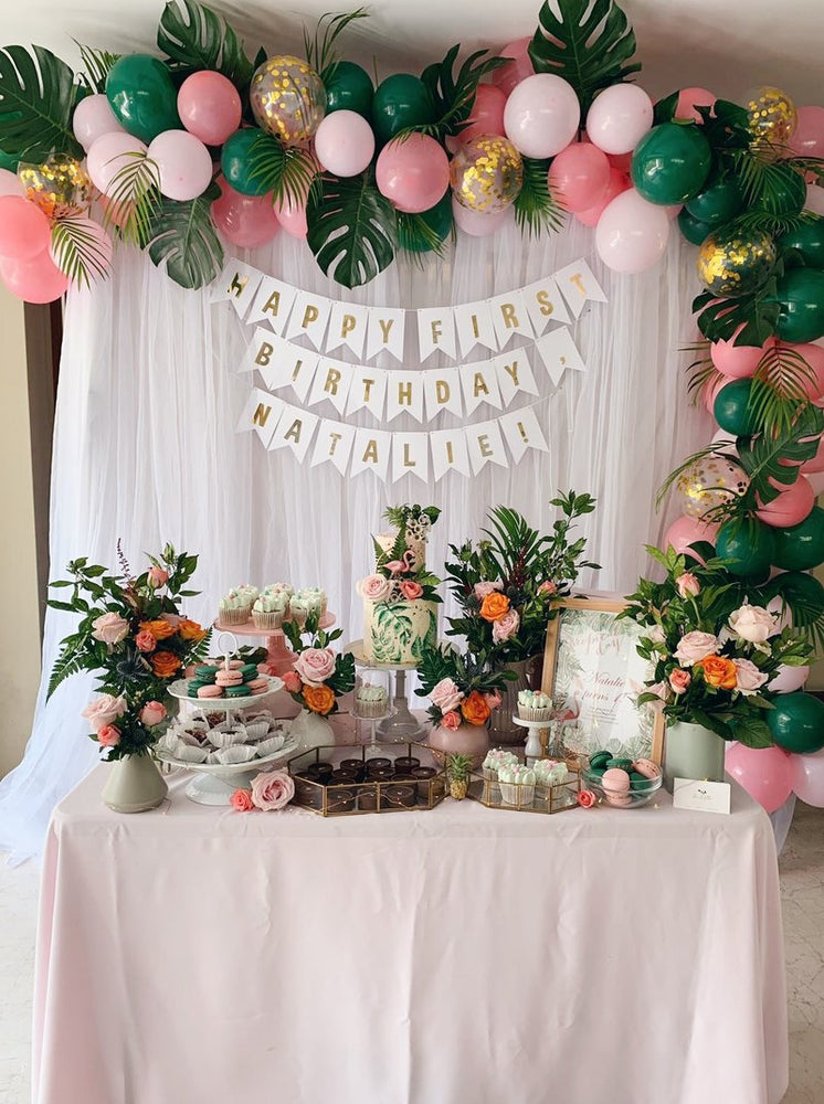 Tropical Themed Petite Dessert Table (For 20-30 pax)