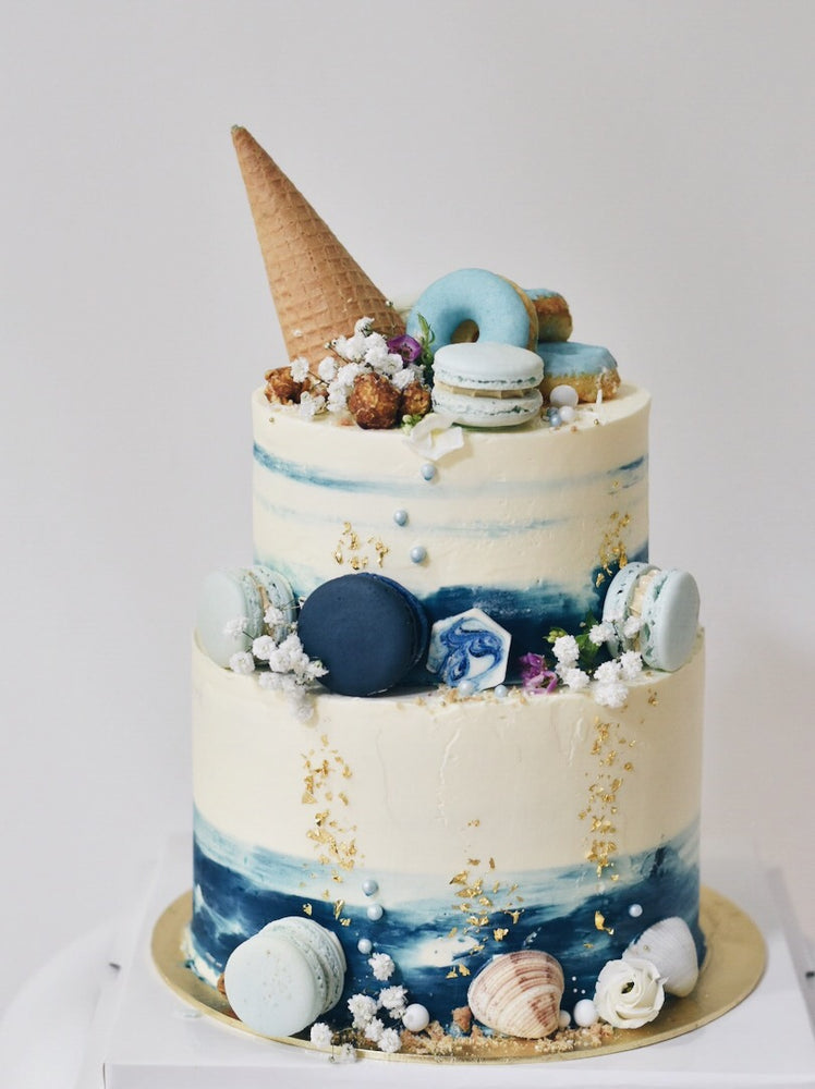 Customised Online Seashell Funfetti Cone Birthday Cake - Cakes. Sweets. Dessert Bars- Zee & Elle