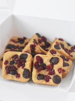 Vegan Cranberry Chocolate Blondies |  Cakes, Sweets, Dessert Bars - Zee & Elle