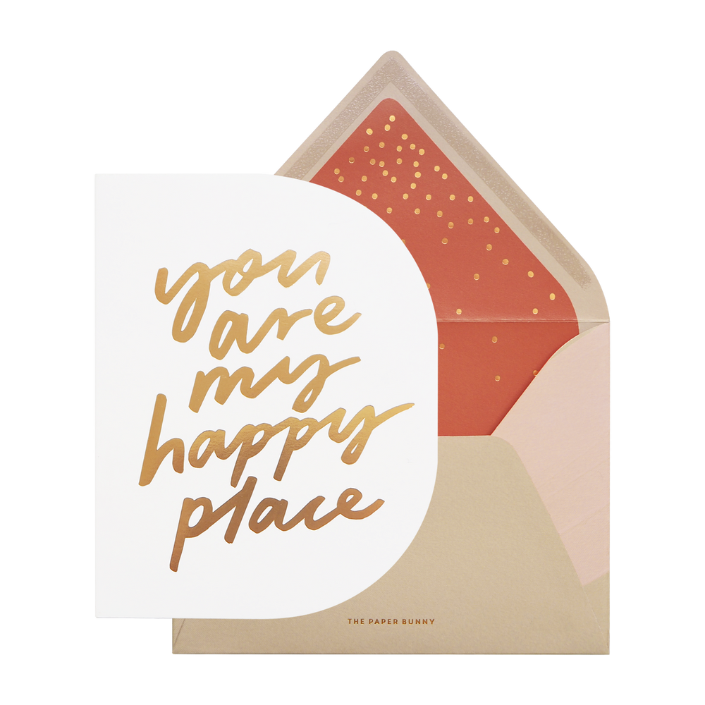 Online You are my happy place card - Cakes. Sweets. Dessert Bars- Zee & Elle