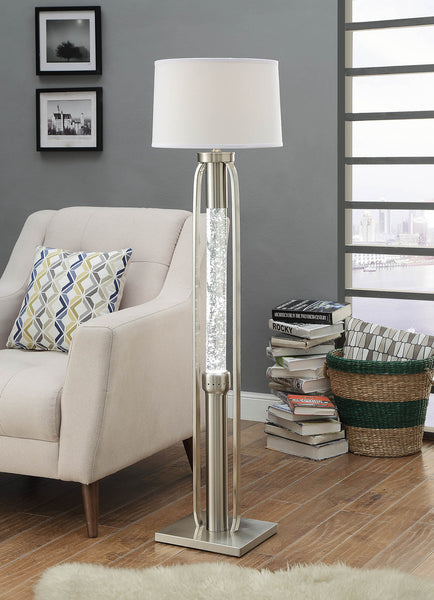 Visual Dual Light Glass Center Floor Lamp