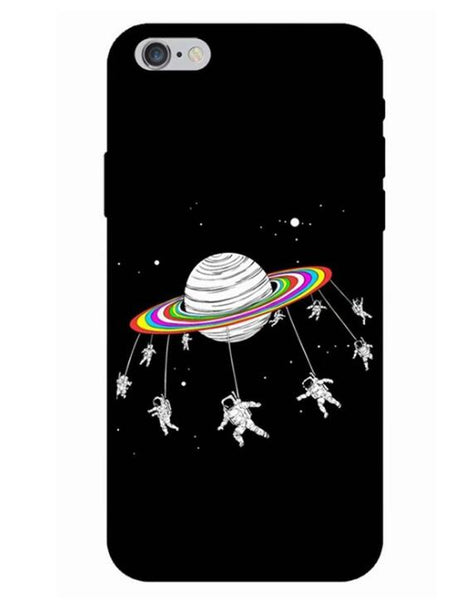 Space Moon Phone Case - iphone 7 8 X