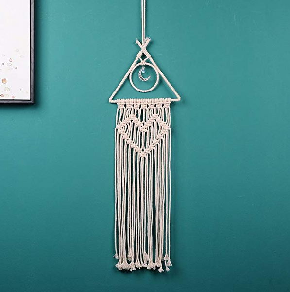 Moon Dreamcatcher Macrame Wall Hanging