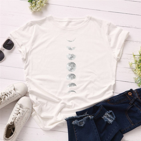 Stylish Moon Phase T-Shirt