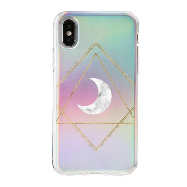 Holographic iPhone Case Cover - Carrara Moon