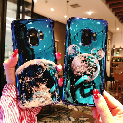 Moon Mickey Ears Phone Case Samsung Galaxy S8 S9