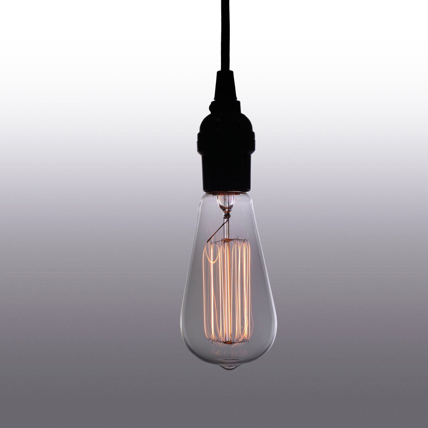 Adjustable Height 1-light Edison Lamp with Bulb
