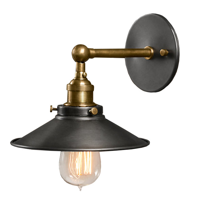 Liezel 1-light Black Edison Wall Sconce