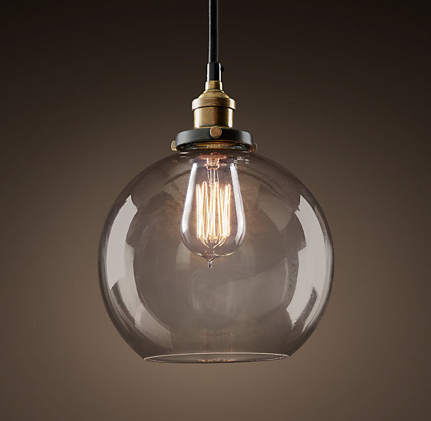 Clear Glass 8-inch Edison Pendant with Bulb