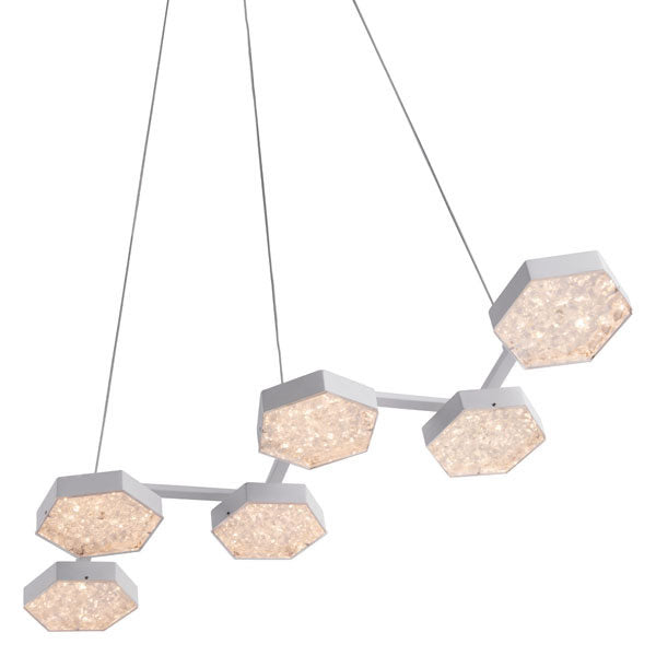Hanging Honeycomb Painted Metal Ceiling Lamp