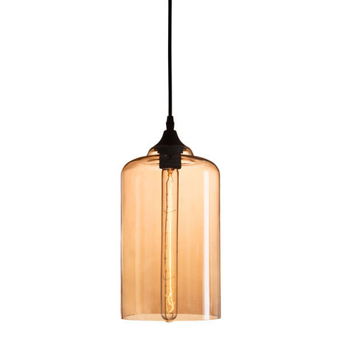 Hanging Pendant Glass and Metal Ceiling Lamp