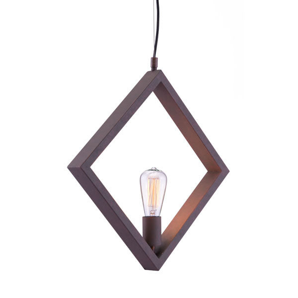 Pendant Style Rust Color Metal Ceiling Lamp