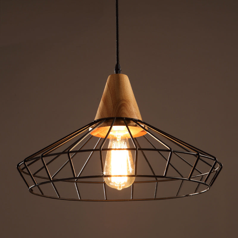 Black Edison Chandelier with Bulb