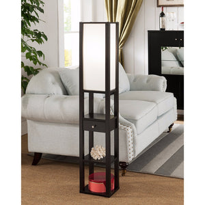 Spacious Modern Style Lamp, Dark Brown