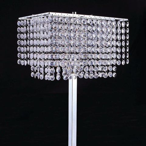 Traditional Style Table Lamp, Chrome