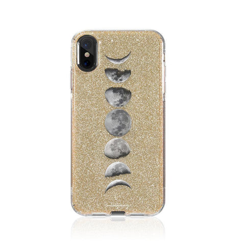 Moon Phases Glitter Hybrid Case