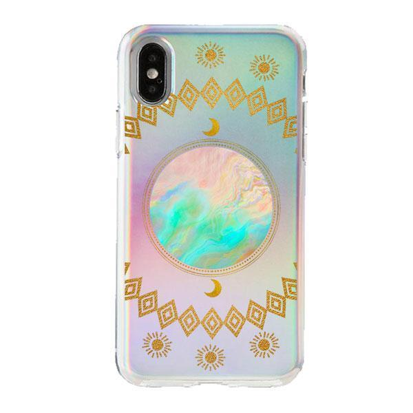Holographic iPhone Case Cover - Opal Moon