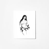 Vine Woman - Greeting Card
