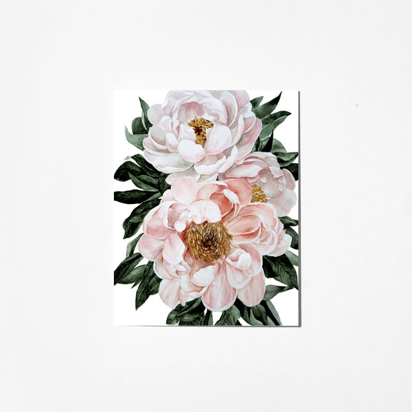 Blossoming Peonies - Greeting Card