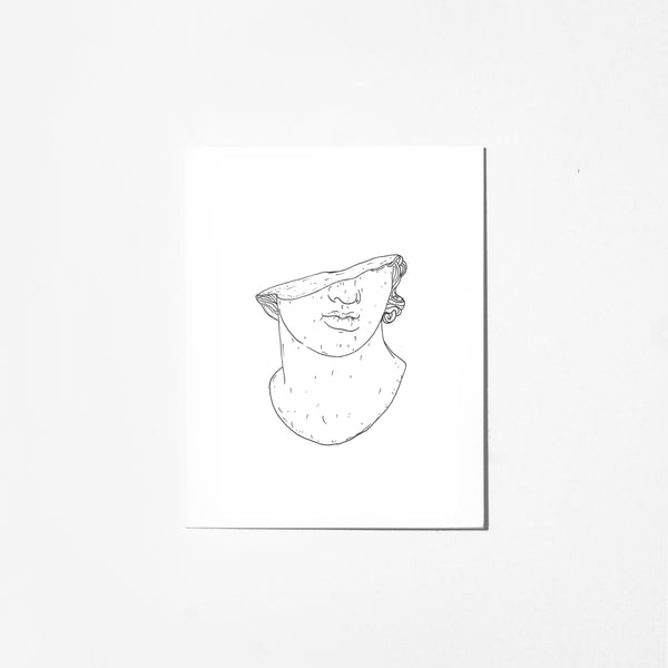 Stone Face - Greeting Card