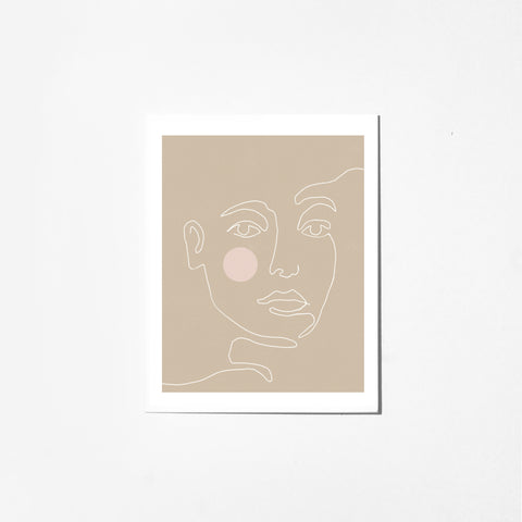 Blushing - Greeting Card