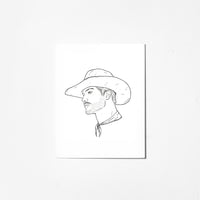 Cowboy Take Me Away - Greeting Card