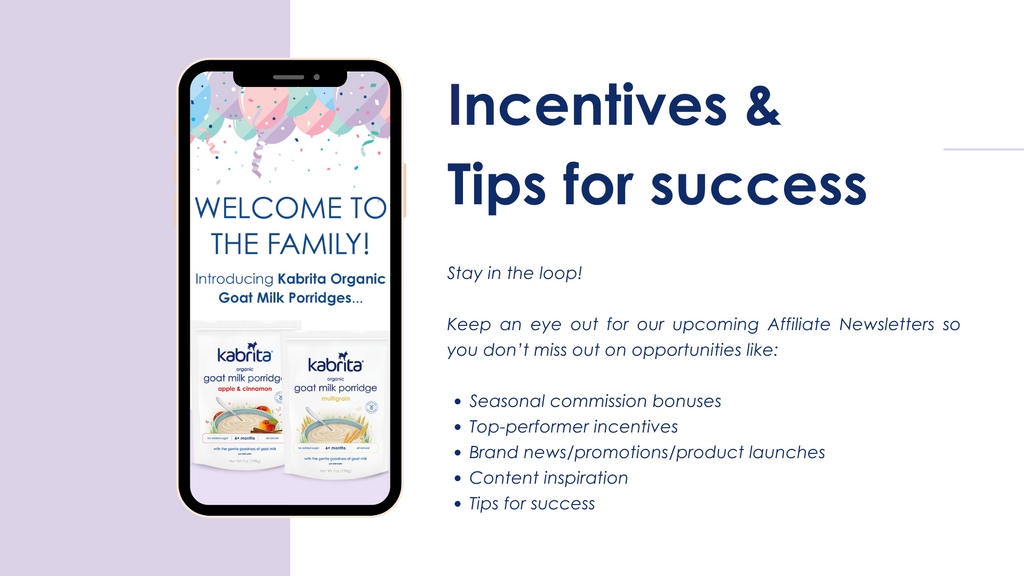Incentives and tips for success