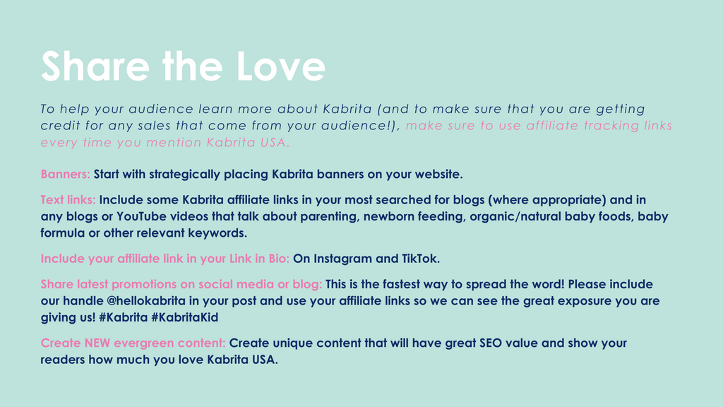 How you can share the love of Kabrita