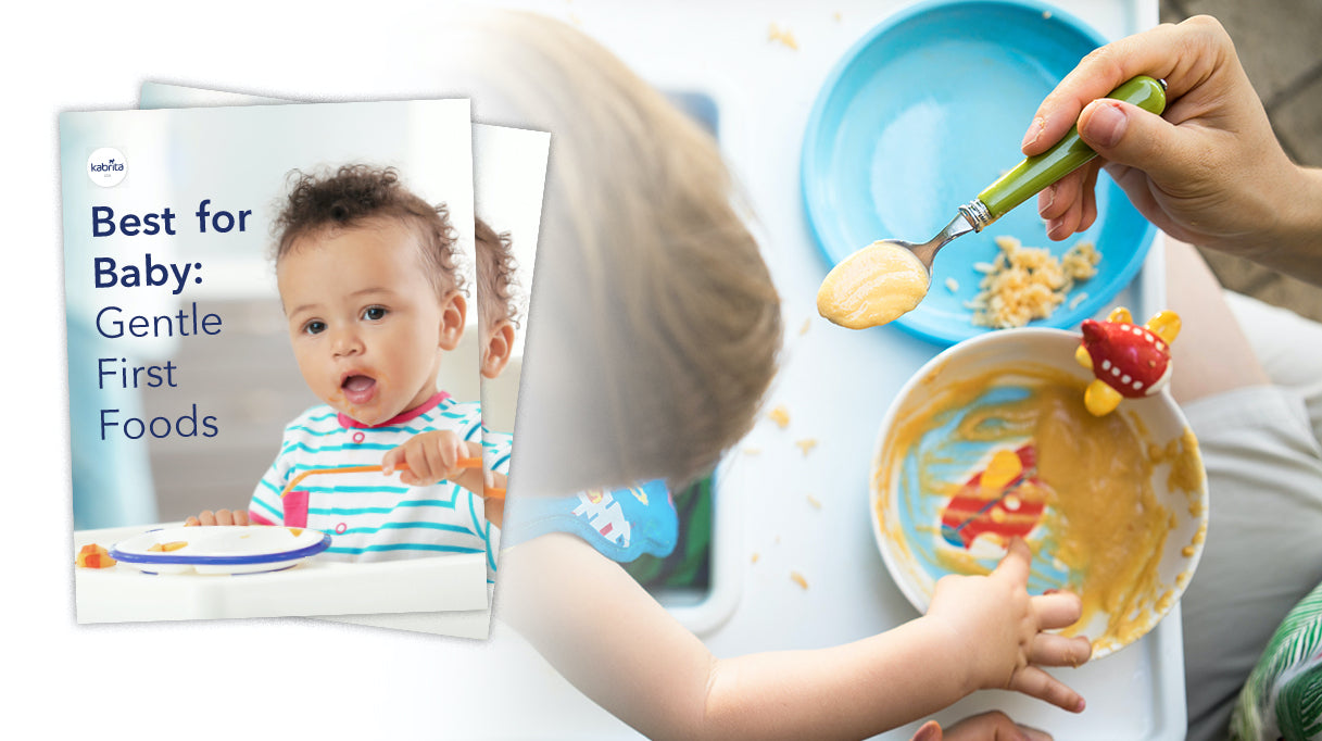 Best for Baby book offer with image of child holding a spoon and image child being fed by a spoon on front cover