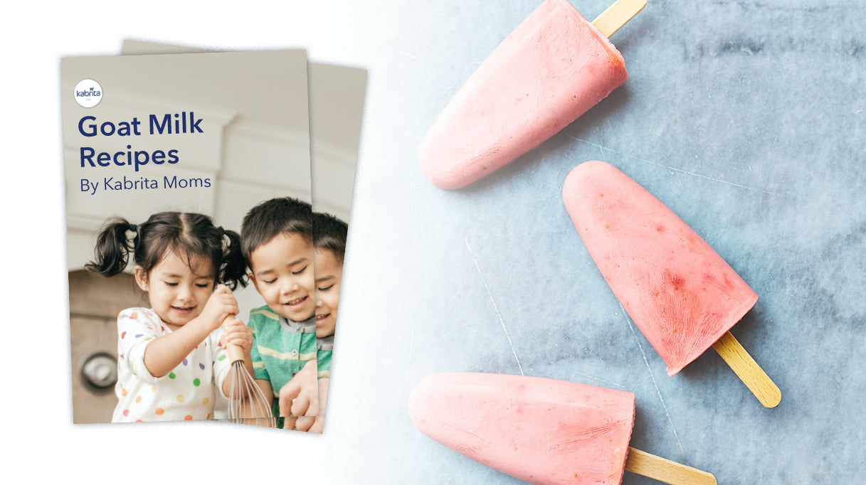 Recipe book offer with image of children holding a whisk on front cover