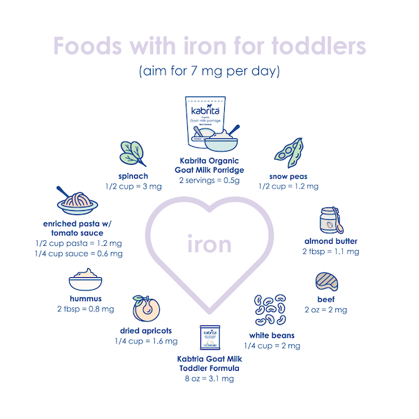 Foods with Iron for Toddlers