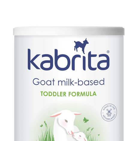 Tin of Kabrita Goat Milk-based toddler formula