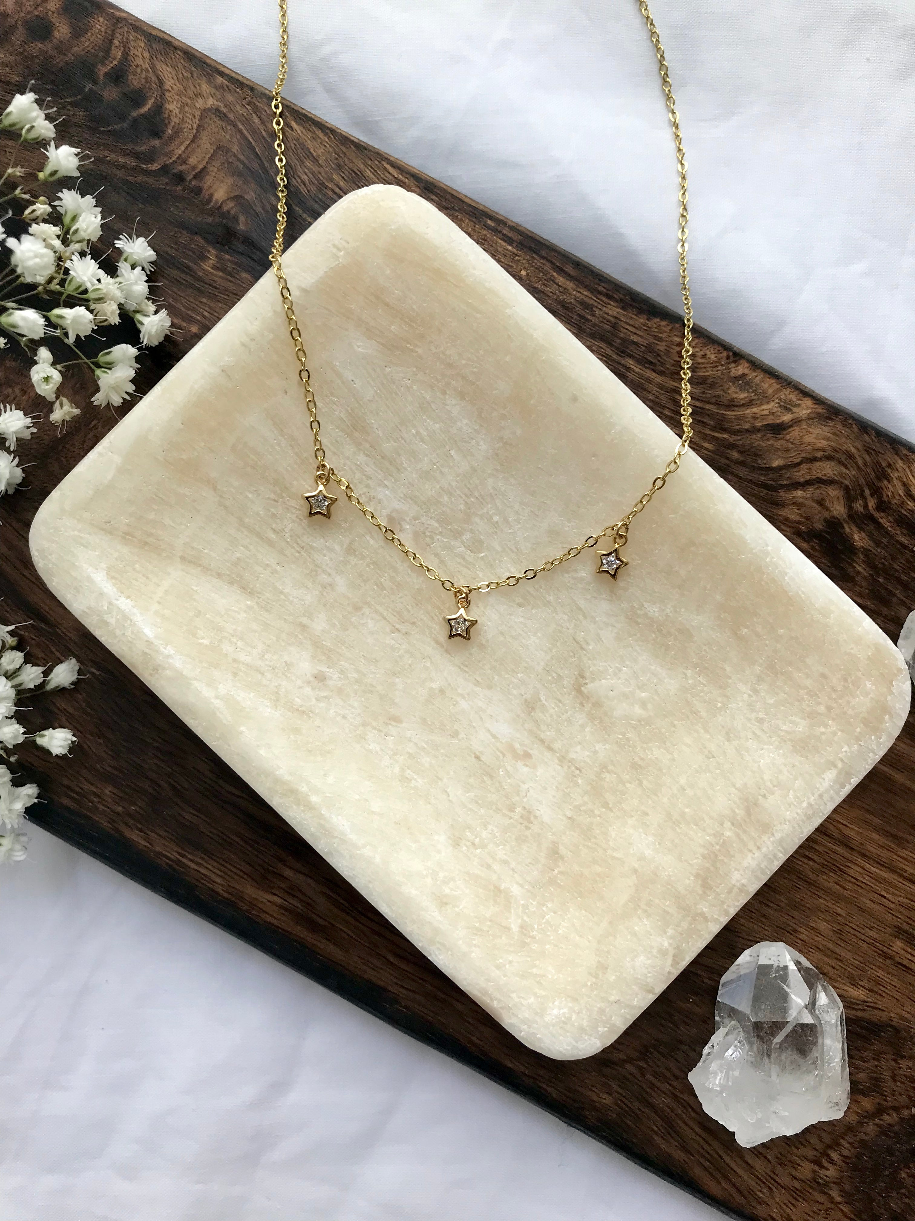 14K Gold Filled Reach for the Stars Necklace