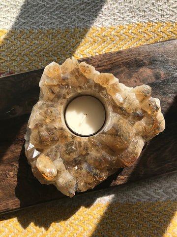 Citrine Tea-light Holder