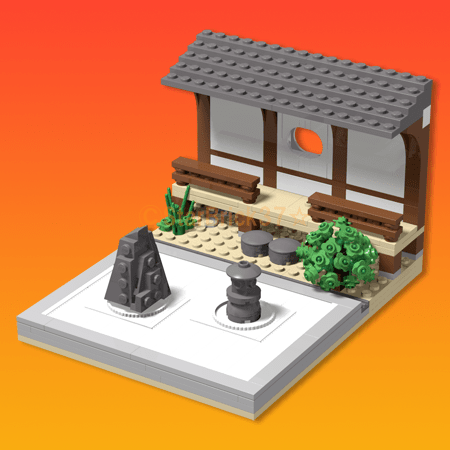Lego (LEGO) Japanese-style work that XNUM X