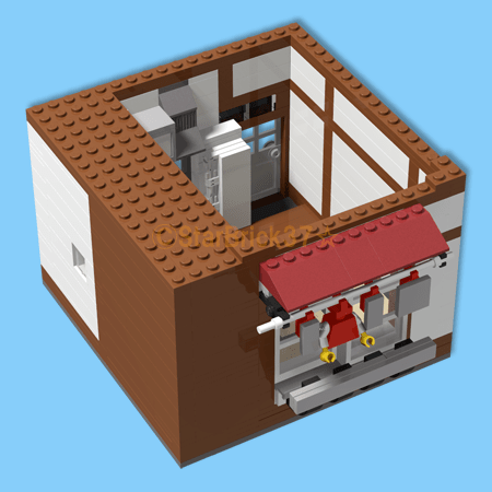 4 tatami semi room MOC work of LEGO (LEGO) Japanese style work